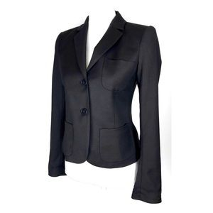 Theory Nillian Blazer Black Wool Career Jacket